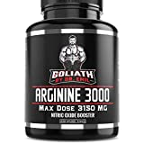 Goliath by Dr. Emil ARGININE 3000 - L Arginine (3150mg) Highest Pill Form Dose - Nitric Oxide Supplement for Muscle Growth, Vascularity & Endurance