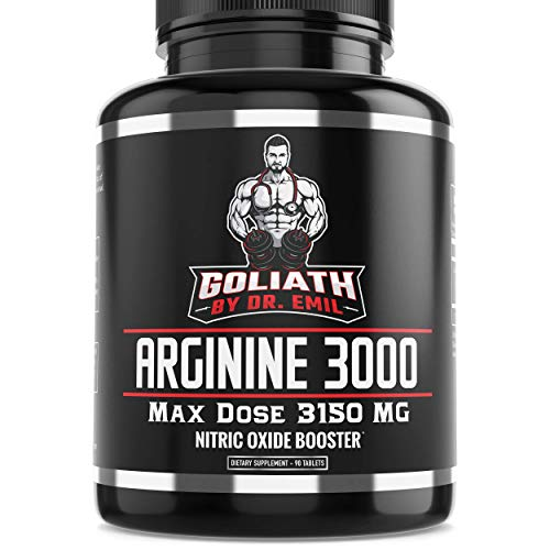 (Dr. Emil - L Arginine (3150mg) Highest Capsule Dose - Nitric Oxide Supplement for Muscle Growth, Vascularity, Endurance & Heart Health (AAKG & HCL) - 90 Tablets)