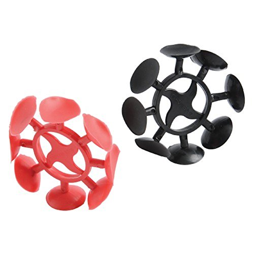 Lot Of 12 Black And Red Safety Suction Cup Ninja Throwing Stars