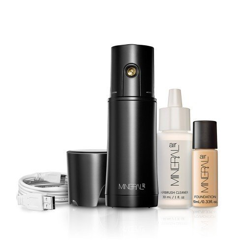 Mineral Air Complexion Starter Kit | Flawless Mineral Foundation Application- Light ()