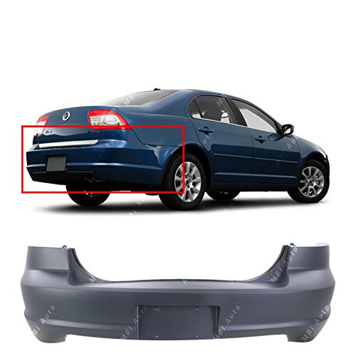 (MBI AUTO - Primered, Rear Bumper Cover Replacement for 2006-2009 Mercury Milan 06-09, FO1100599)