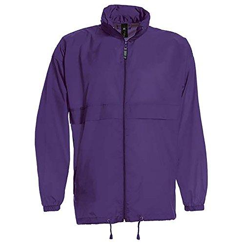 B&C Sirocco Mens Lightweight Jacket/Mens Outer Jackets (XL) (Purple) ()