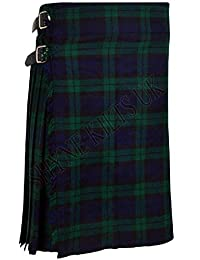 SHYNE_ENTERPRISES Black Watch Men's 5 Yard Scottish Kilts Tartan Kilt 13oz Highland Casual Kilt