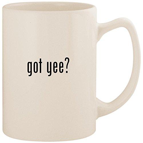 Yee Tin - got yee? - White 14oz Ceramic Statesman Coffee Mug Cup