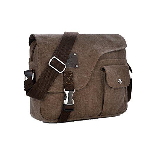 Vintage Casual Women Shoulder Bag(Khaki) - 6