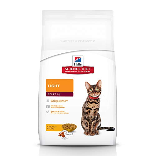 Hill's Science Diet Dry Cat Food, Adult, Light, Chicken Recipe, 16 lb bag
