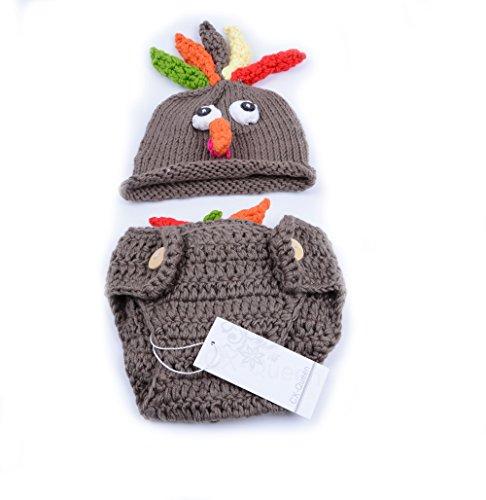 CX-Queen® Crochet Turkey Baby Hat Diaper Cover Set Thanksgiving ... 2e311f501cc