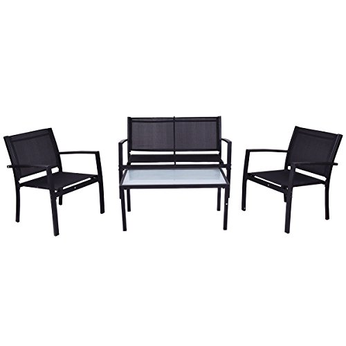 Giantex 4 PCS Outdoor Patio Furniture Set Sofa Loveseat