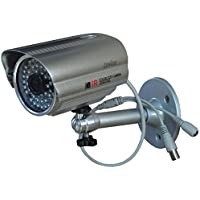 Waterproof Bullet CCTV Camera Wide Angle Home Surveillance System 3.6mm 1000TVL CMOS With IR-CUT IR Day Night 48 Infrared LEDs Outdoor Camera With Free Power Supply