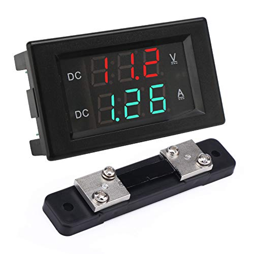 - DROK DC 4.5-100V 50A Voltage Current Display Meter