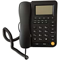 HePesTer P-017 Call Center Corded Telephone with Caller ID Landline Home Office Phone with Headset Jack