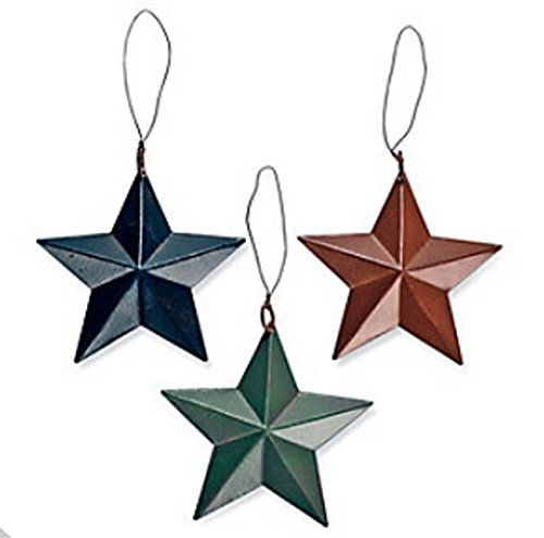 Fun Express Tin Barn Star Ornaments Primitive Rustic Country Decor, Package of 24
