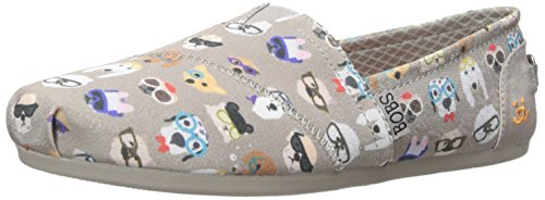 BOBS from Skechers Women's Plush - Pup  Flat, Taupe Pup , 10 M US