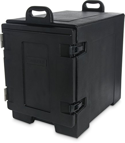 Carlisle PC300N03 Cateraide End-Loading Insulated Food Pan Carrier, 5 Pan Capacity, Black -