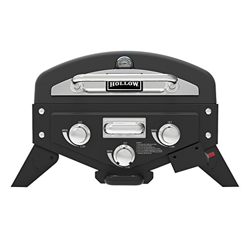 (Smoke Hollow VT280SS1 Vector 3-Burner Tabletop Propane Gas Grill with Smoke Tray)