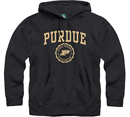 Ivysport Purdue University Boilermakers Hooded Sweatshirt, Legacy, Black, X-Large