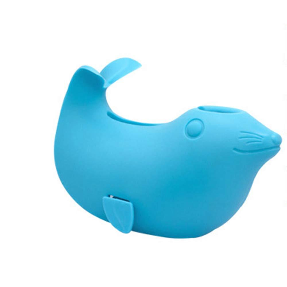 Mandoo Bath Spout Cover, for Baby Bath Safety, Cute Seal Shape Blue