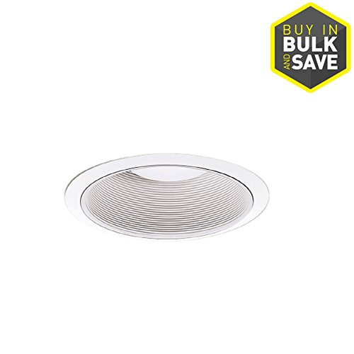 Halo 310 Series 6 Inch White Recessed Ceiling Light Fixture Trim with Coilex Baffle ()