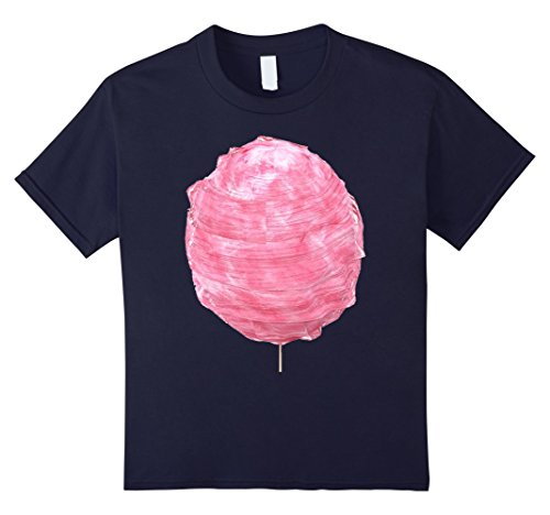 Snack Machine Costume (Kids Pink Cotton Candy Costume T-Shirt spin sugar sweet treat 12 Navy)