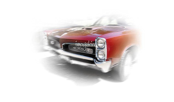 1967 Pontiac GTO Classic Car Poster and Prints Wall Art Canvas Painting 24X36inc