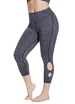 LETAOTAO Yoga Pants Workout Active Leggings Plus Size High Waist for Women