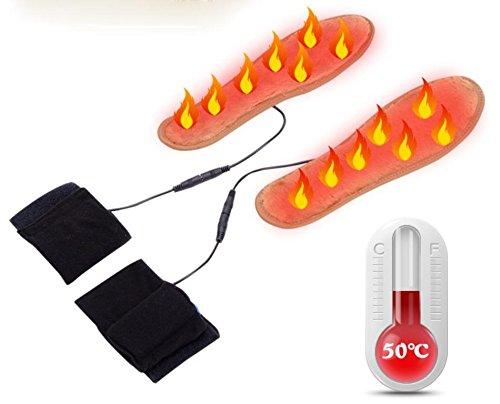 GXS Semelles de chauffage électrique chaud pieds trésor Semelles de fièvre Semelles rechargeables pieds chauds toute la fièvre de pied