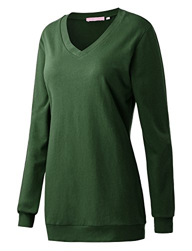 Regna X Boho for Woman's Fall Loose for Leggings Green 2XL Plus Size Big Tunic Sweatshirts Pullover