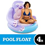 BigMouth Inc. Sloth XL Pool Float – Gigantic Sloth Pool Float That Measures Over 4 Feet, Funny Inflatable Vinyl Summer Pool or Beach Toy, Makes a Great Gift Idea