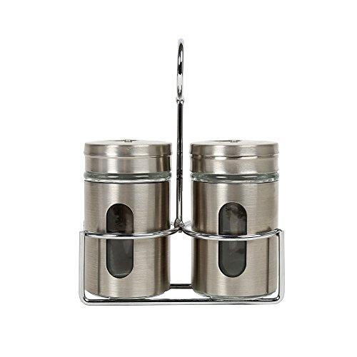 (Luciano, 5.75 inches, Salt and Pepper Set, Silver)