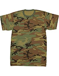 44fdc162102b83 Military Camouflage T-Shirt Army Fashion Color Camo Crewneck Tee Short  Sleeve Top with ArmyUniverse