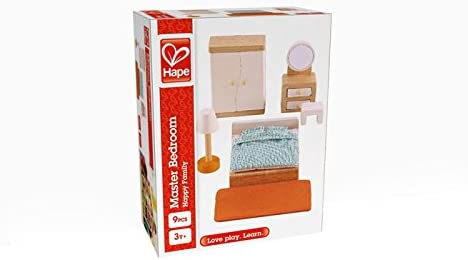 toys, games, dolls, accessories, dollhouse accessories,  furniture 10 picture Hape Wooden Doll House Furniture Master Bedroom Set promotion