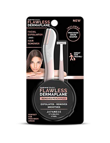 Finishing Touch Flawless DermaPlane Facial Exfoliator and Hair Remover, 3 Count