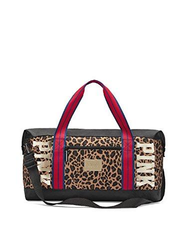 Victoria's Secret PINK Sport Duffle Bag Leopard Gold Logo by VS Pink
