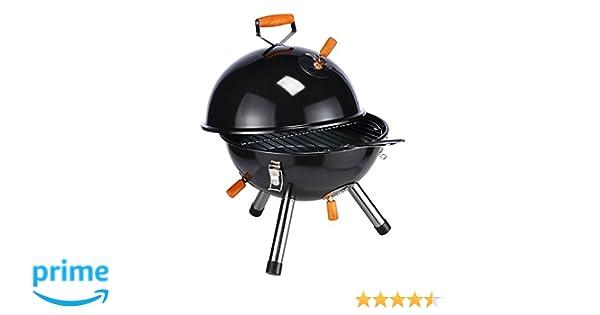 Parrilla redonda mini en negro parrilla de picnic parrilla de mesa camping parilla picnic grill