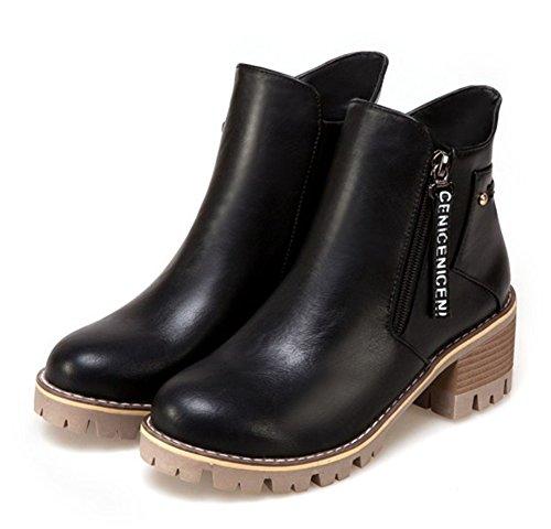 Chaussures à fermeture éclair vertes Fashion femme PBd6sVi