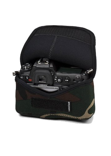 LensCoat BodyBag camouflage neoprene protection camera body bag case (Forest Green Camo)