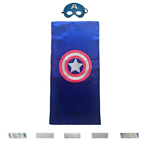 Ranavy Adjustable Super Hero Capes Panel for Children with Sticky Velcro Multi-purpose 27.55