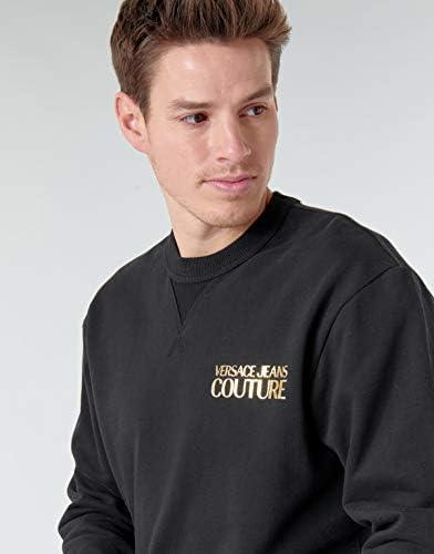 VERSACE JEANS COUTURE Mens Chest Logo Sweatshirt XL Black