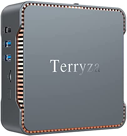 Terryza GK3 Mini PC,12GB DDR4/128GB SSD,Intel Celeron J4125 (up to 2.7GHz) Windows 10 Pro(64-bit) Mini Desktop Computer, Support Triple Display/Gigabit Ethernet/Dual Band Wi-Fi/BT 4.2/ 4K HD