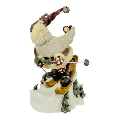 Boyds Bears Resin Santa In The Nick Of Time Christmas Carvers Choice - Resin 8.25 IN