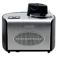 H.Koenig HF250 Eismaschine / Kapazität 1,5 L / 8 Portionen / Kalthaltefunktion / Touchpad-Bedienung / 150 W / Edelstahl / schwarz