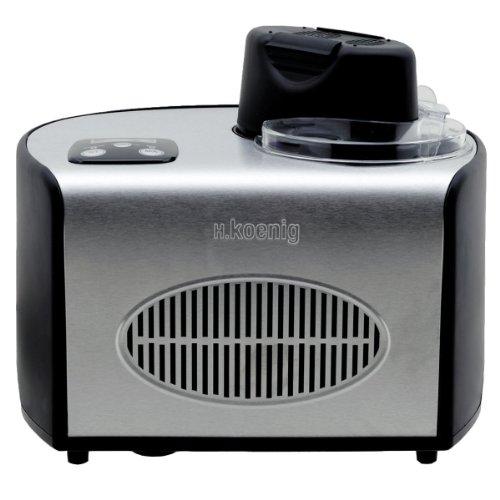 H.Koenig HF250 Eismaschine, Volumen: 1,5 L, Touchpad-Bedienung, schwarz