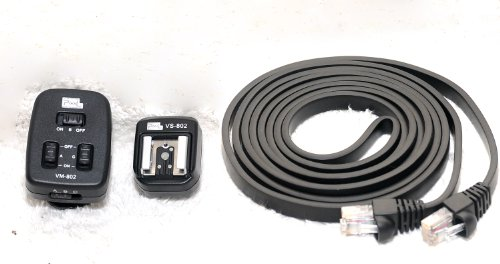 Pixel VM802 Pixel VM-802 Grouping Componor Combined Off-Camera Cable for Nikon Camera and Flashes (Black)