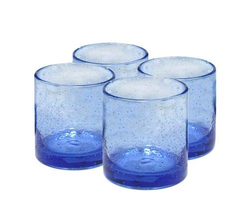 Goblet Water Blue Light (Artland Iris Double Old Fashioned Glasses, Light Blue, Set of 4)