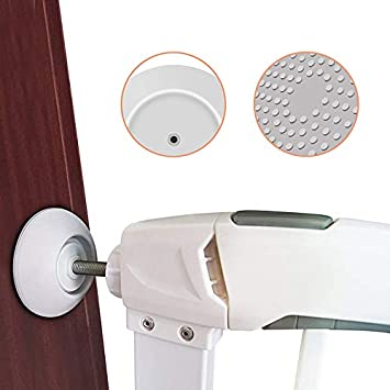 Baby Gate Wall Protector 4Pcs Safety Wall Bumpers Guard fit for Dog Pet Child Kid Gate and Pressure Mounted Gates