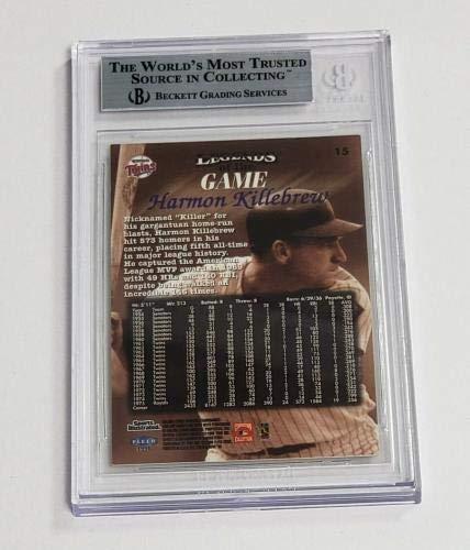 Harmon Killebrew Signed 1998 Sports Illustrated Card #15 Bas Coa Twins Hof Beckett Authentication Autographed MLB Magazines