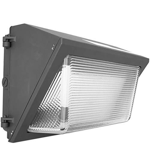 Green Beam LED Wall Pack Fixture, 60 Watt LED Wall Pack, Photocell Exterior Lights, Outdoor Flood Light, Dusk to Dawn Lights Outdoor, Outdoor Light Fixture, 6900 Lumens, 5000K