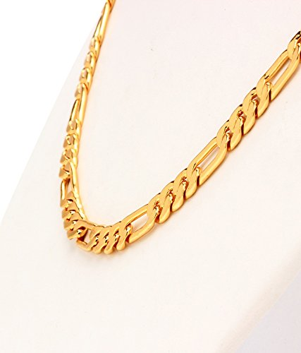 in jewellery inches model for amazon men gold plated dp necklace chain goldnera