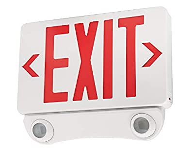 Elco Lighting EE85HR LED Exit Sign and Emergency LED Light Combo