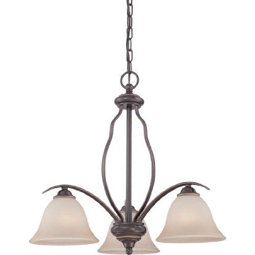 (Quoizel VTA5103PN Ventura with Palladian Bronze Finish,  Dinette Chandelier and 3 Lights,  Brown)